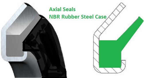 Axial Gamma Seal 55x75x5.5mm  Price for 1 pc
