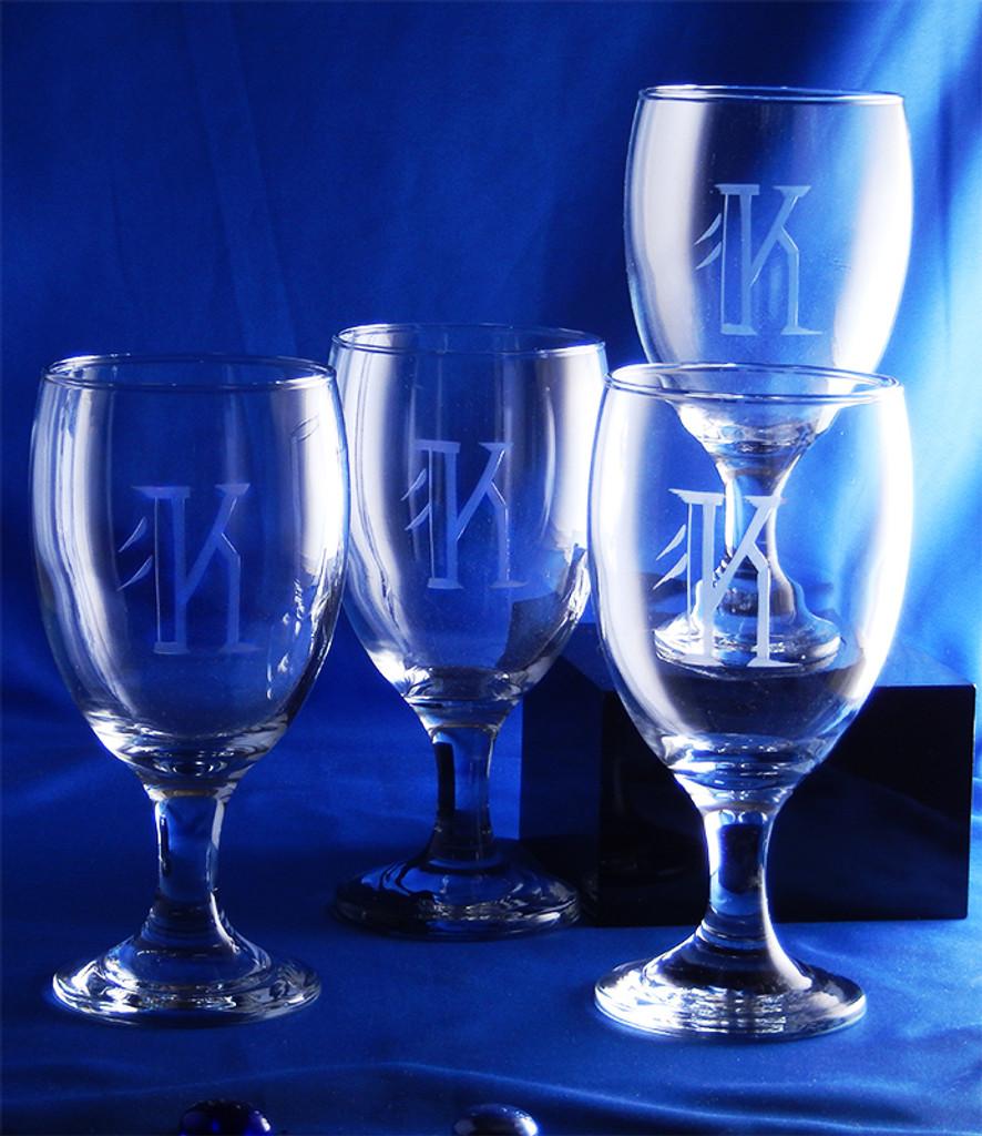 Monogrammed Skylar Glasses (Set of 4)