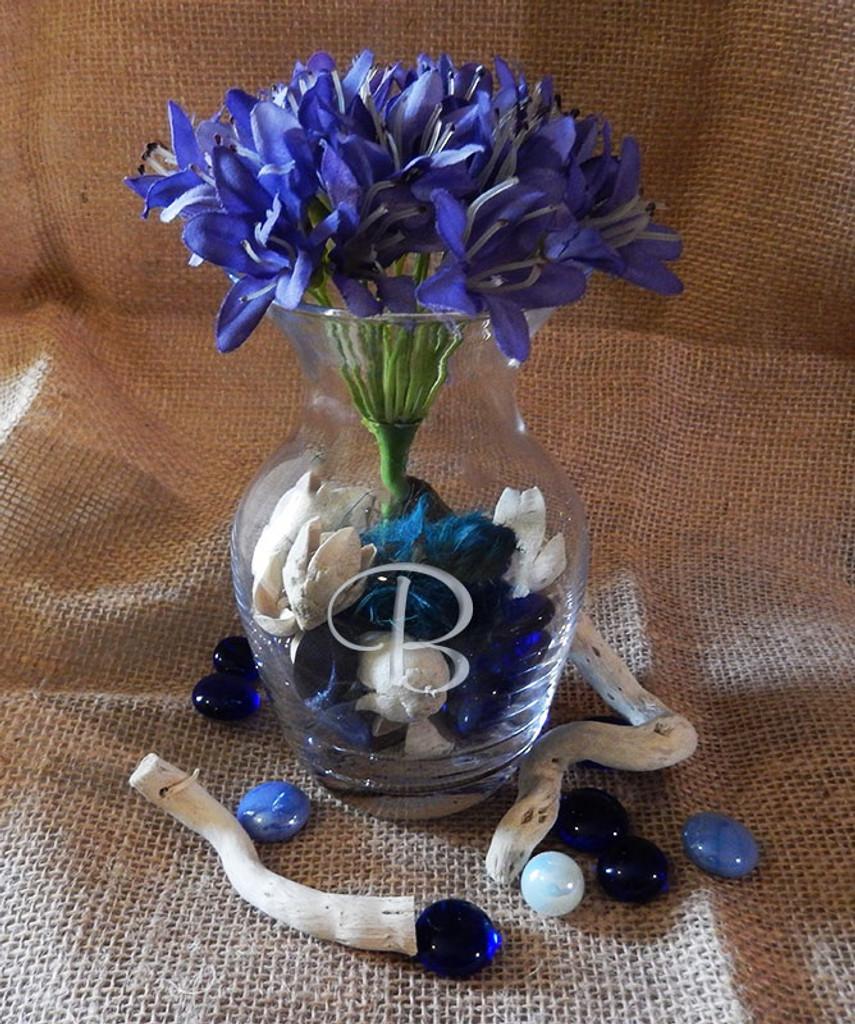 "Monogrammed 5.5"" Bouquet Vase"