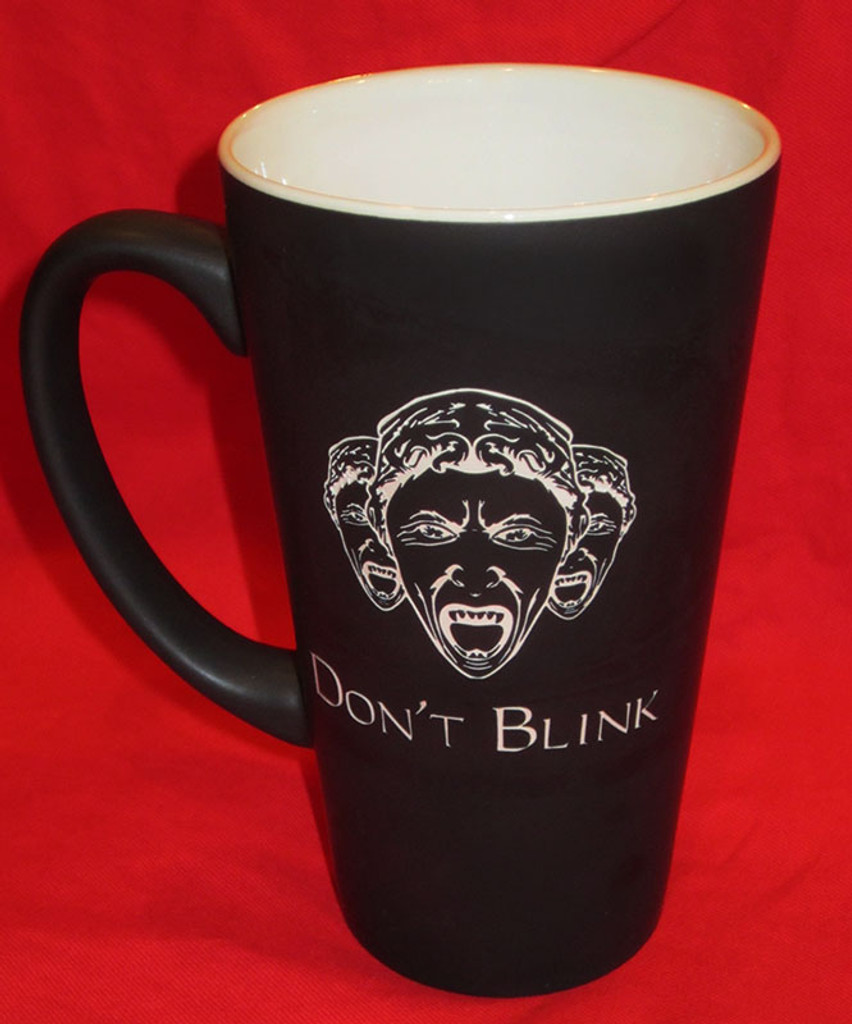 Etched Doctor Who Weeping Angel Mug