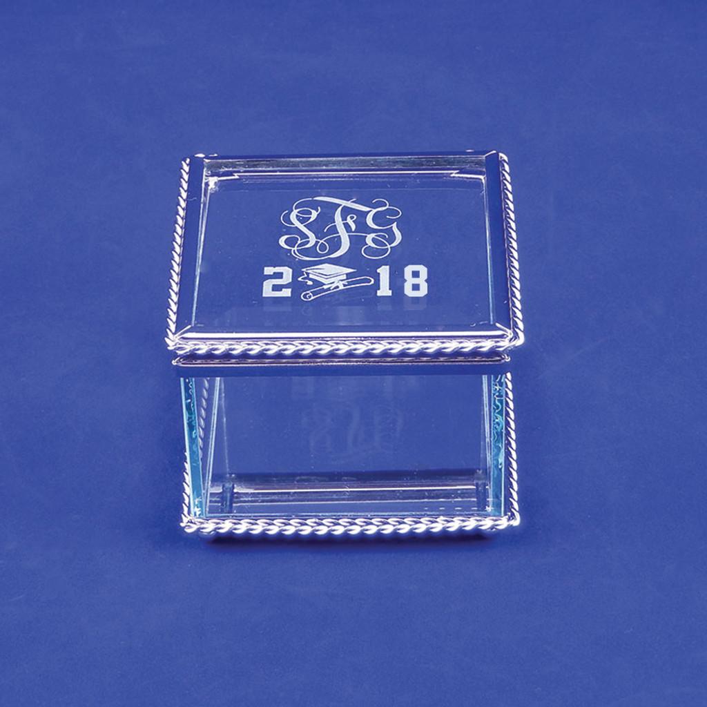 Monogrammed Class of 2018 Graduation Jewelry Box