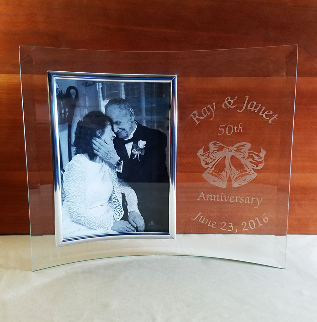personalized 50th anniversary picture frame
