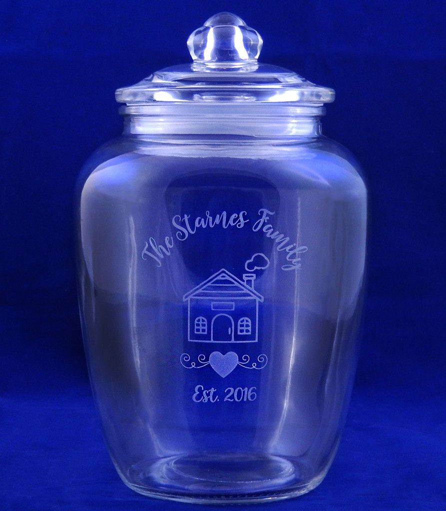 Personalized Family Cookie Crock Jar