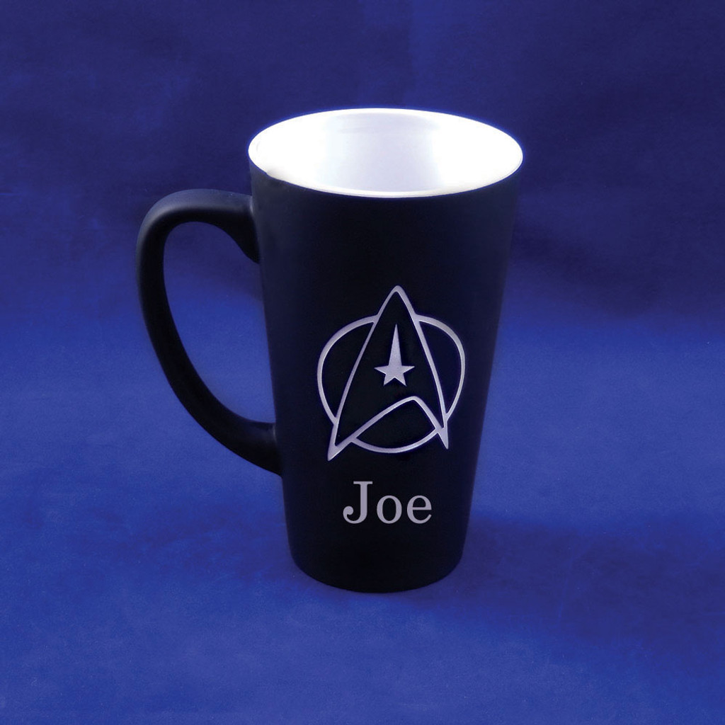 Personalized Black Star Trek Mug