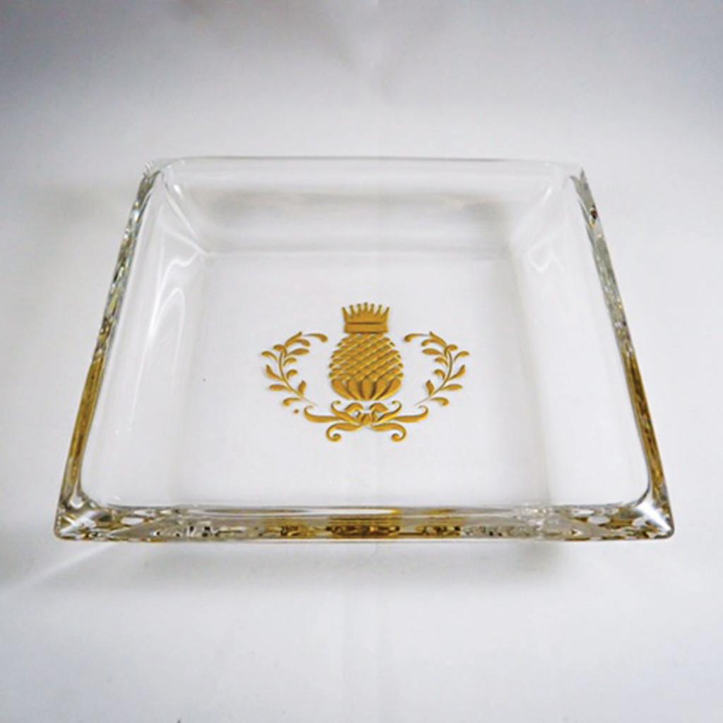 Mini Hancock Platter with Gold Pineapple Flourish