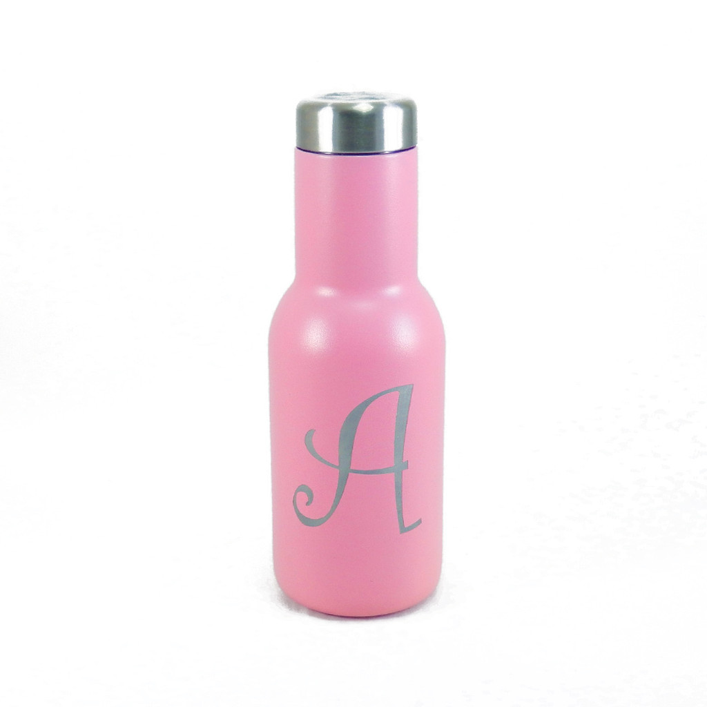 personalized pink manta insulated water bottle the crystal shoppe