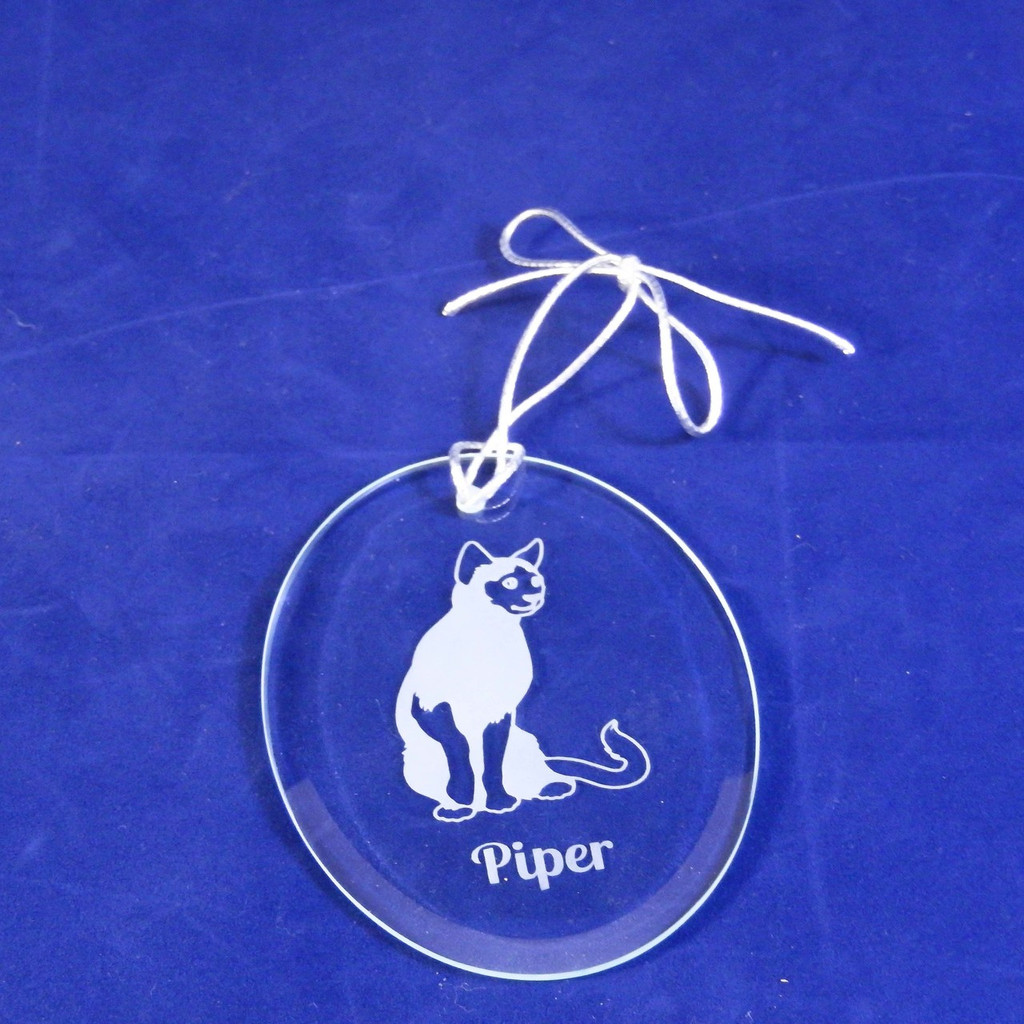 Personalized Oval Cat Ornament