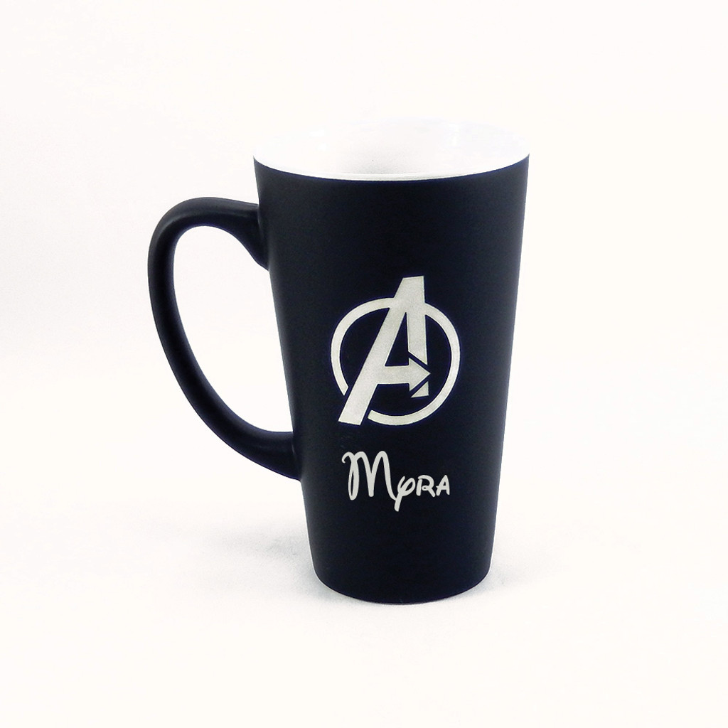 Personalized Black Marvel's Avengers Mug
