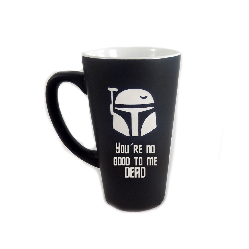 Personalized Black Boba Fett Mug