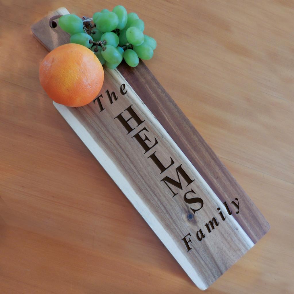 Personalized Acacia Wood Bread Board