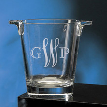 Personalized Flared Ice Bucket with monogram