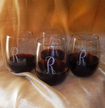 Personalized 15oz Stemless Wine Glasses