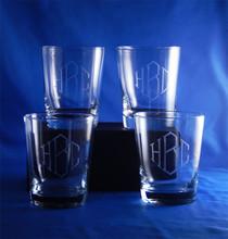 Monogrammed Flared DOF Highball Glasses