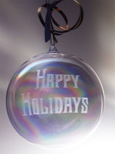Personalized 120mm Handcut Round Blown Ornament