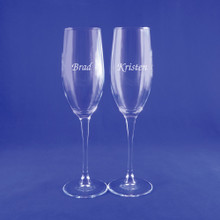 Personalized Connoisseur Champagne Flute Pair