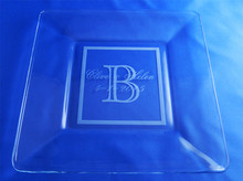Personalized Natalie Wedding Reception Plate - Vanderbuilt Design