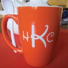 Small Monogrammed Orange Ursah Spoon Mug - Disney Font