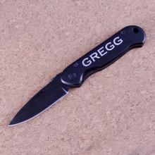 Personalized Black Pocket Knife
