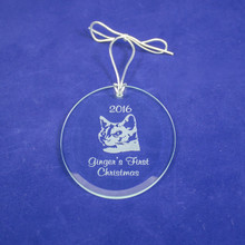 Personalized Cat's First Christmas Ornament