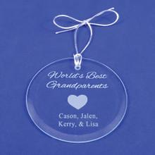 Personalized World's Best Grandparents Ornament
