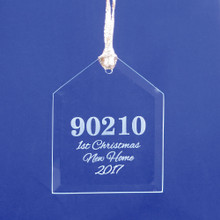 Personalized Zip Code House Ornament