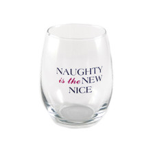 Naughty Is The New Nice Stemless Wine Glass