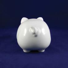 Personalized Porcelain Piggy Bank - Rear View