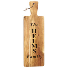Personalized Acacia Wood Cutting Board