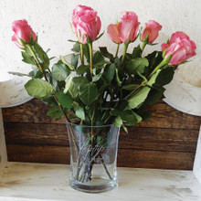 Engraved Mother's Day Vase with Flowers