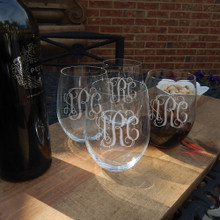 Monogrammed RIEDEL Stemless Red Wine Glass Set