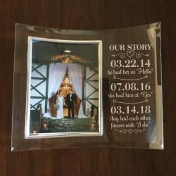 Custom Love Story Wedding Frame