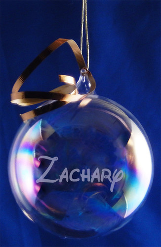 Personalized 100mm Round Glass Blown Ornament