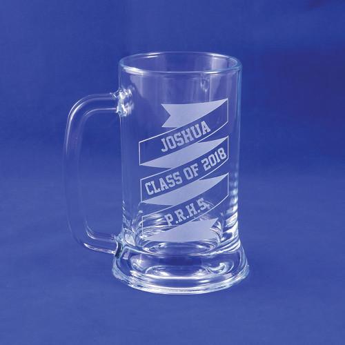 Personalized Graduation Ribbon Beer Mug, Class of 2018, Graduation Gift