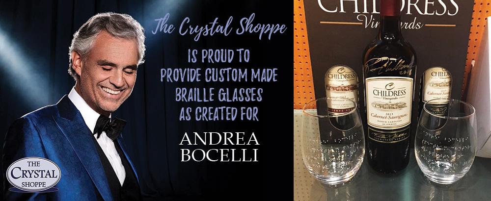 Custom Braille Glasses for Andrea Bocelli