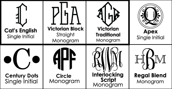 Font Choices for Monogrammed Glasses