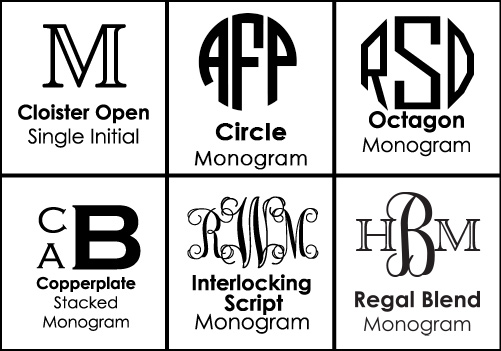 Font Choices for Monogrammed Platters