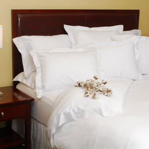"""These beautiful Green Threads™ Organic Cotton Sheets are incredibly soft on your body and easy on the environment. The Green Threads™ Organic Cotton Sheets are eco-friendly,  features 100% organic ring spun and combed cotton woven in a satin finish with a 275 thread count. Made by leading hospitality manufacturer 1888 Mills, the Green Threads™ line is now available for your home as well as in fine hotels. Highly Machine Washable.     Soft and Eco-friendly 100% Organic Combed Cotton - OEKO-TEX CERTIFIED Flat sheets have 3"""" top hems and 1"""" bottom hems Fitted sheets have extra deep pockets that fit mattresses up to 18"""" thick Pillowcases have 3"""" hems Highly Machine Washable Lasting no pill sheets, SKAL Certified organic cotton Color coordinated care labels and bottom hem threads for easy size identification Available only in white     Call 855-468-3528 or click here to email us about large quantity purchases.      (Note: The digital images we display have the most accurate color possible. However, due to differences in computer monitors, we cannot be responsible for variations in color between the actual product and your screen.)"""