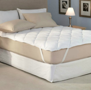 "Enjoy extra comfort and protect your bed from spills and stains with the Sleep Supreme Mattress Pad. It's four times thicker than traditional mattress pads and has six times the fill of a normal pad - which helps make your mattress feel like a premium pillow top mattress! You can't beat that! The Sleep Supreme Mattress Pad is also featured in all the Omni Hotel & Resorts world wide! Highly Machine Washable.      Hypoallergenic  Quilted 50% cotton/50% polyester cover treated with ProGuard(r) for spill and stain protection  24 oz per square yard of bonded polyester fiber  Thick elastic anchor bands to hold the pad in place  Fits mattresses up to 20"" deep  Highly Machine Washable    Full: 54"" x 80"" Queen: 60"" x 80""  King: 78"" x 80"" California King: 72"" x 84""    Call 855-468-3528 or click here to email us about large quantity purchases.    (Note: The digital images we display have the most accurate color possible. However, due to differences in computer monitors, we cannot be responsible for variations in color between the actual product and your screen.)"