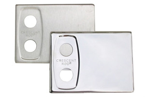 Easy to install cover plates are available in bright or brushed to coordinate with the selected finish of the Crescent Rod™.  Call 855-468-3528 or click here to email us about large quantity purchases.