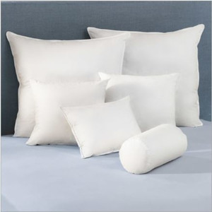 Decorative and functional shapes and inserts filled with small feathers for upscale feel and fluffy comfort. Enhances the appearance of any bedroom. Product Information Duck feather fill 230 thread count, 100% cotton fabric shell Packaged in a clear poly bag  Call 855-468-3528 or click here to email us about large quantity purchases.