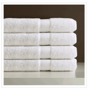 The King's Choice® Towel Collection is an accumulation of unblemished white, ring spun, brushed cotton, terry toweling woven at an entire 19 ounces. Fine twofold yarn on the circles produces terry with more noteworthy ricochet, a springier vibe. Toweling that remaining parts milder; enduring significantly more and giving more prominent receptiveness. Ring Spun, Combed Cotton.  Wash Cloth:13x13 Hand Towel:16x32 Bath Towel:27x54 Bath Sheet:36x70 Bath Mat:19x35 Call 855-468-3528 or click here to email us about large quantity purchases.
