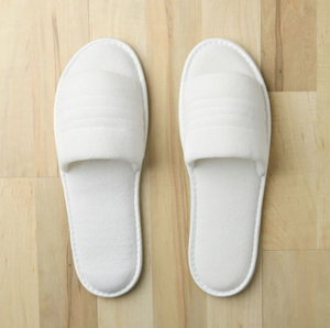 Washable Terry Slippers (delicate wash, air dry) with durable PVC non-slip sole. (Available in Women's 8.5 / Men's Sm:7, Lg:12)  Call 855-468-3528 or click here to email us about large quantity purchases.