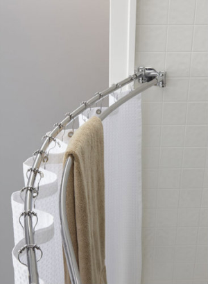 """The Double Oval™ Rod versatile double design gives additional space to hang towels or different fundamentals inside a 9"""" curve. The oval circumference of the rod prevents turning and lessens friction while opening and closing the shower curtain. Built of quality stainless steel, the rods resist rust and are available in bright finishes. (Brackets and hardware are included.) Please note that Crescent Rods only ship to the lower 48 United States.     Double rod provides space for hanging towels within the shower Made of stainless steel Oval rod design prevents spinning Constructed of quality stainless steel, our rods resist rust and are available in bright or brushed finishes Brackets and hardware are included Available in bright finishes    Call 855-468-3528 or click here to email us about large quantity purchases.     (Note: The digital images we display have the most accurate color possible. However, due to differences in computer monitors, we cannot be responsible for variations in color between the actual product and your screen.)"""