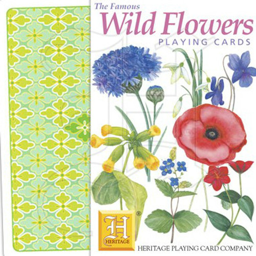 Wild Flowers Playing Cards