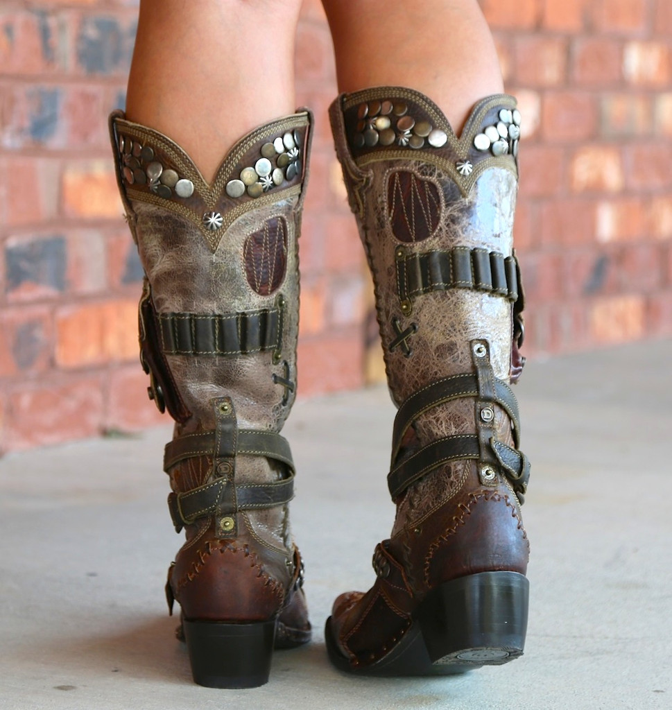 Lane for Double D Ranch Frontier Trapper Boots DD9004A Heel