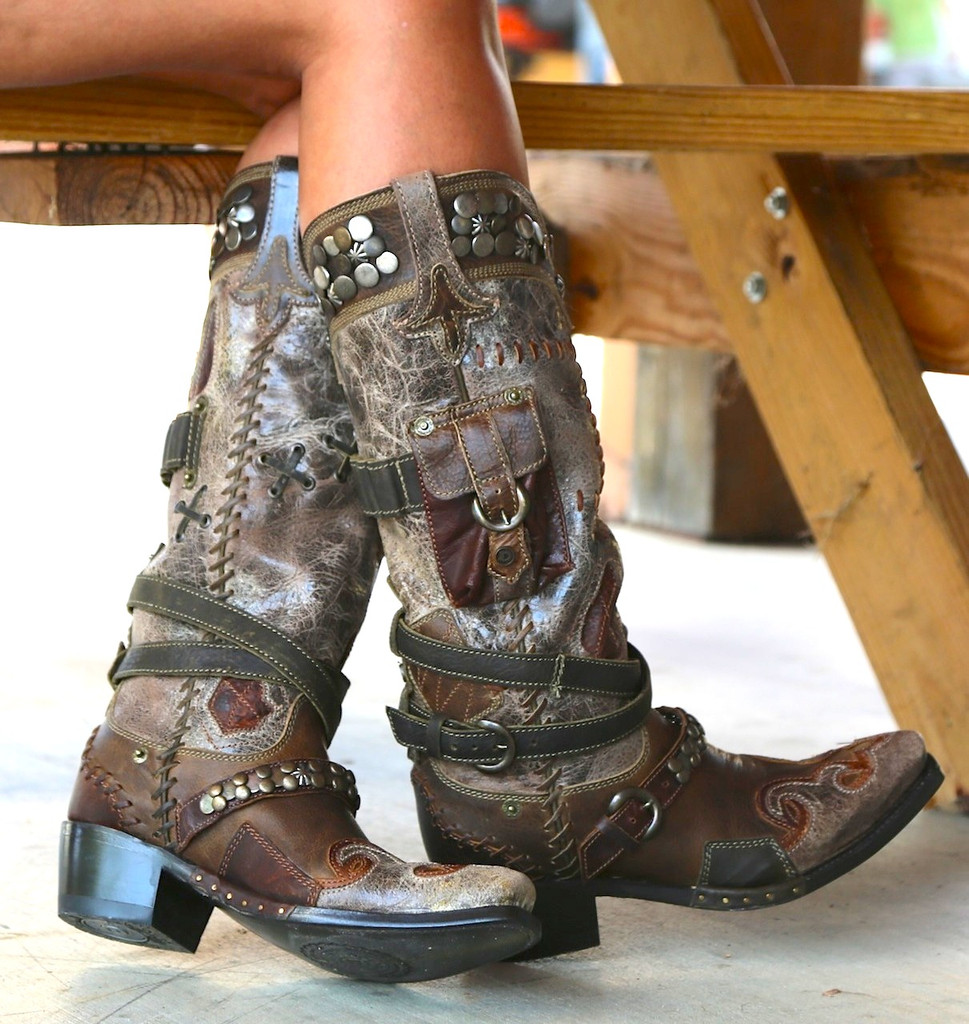 Lane for Double D Ranch Frontier Trapper Boots DD9004A Side