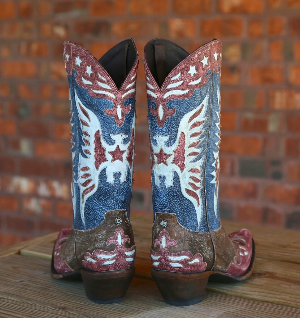 Lane for Double D Ranch Star Spangled Rodeo Boots DD9034A Heel