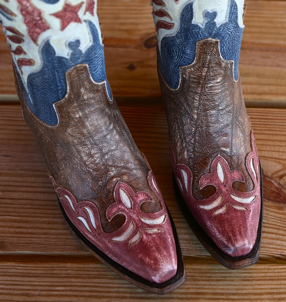 Lane for Double D Ranch Star Spangled Rodeo Boots DD9034A Toe