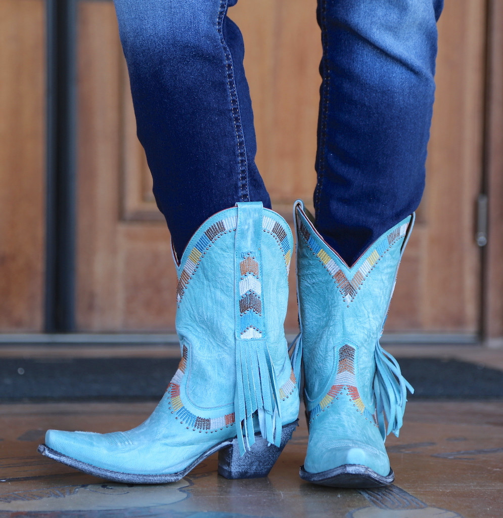 Yippee by Old Gringo Persefone Blue Boots YL230-2 Front