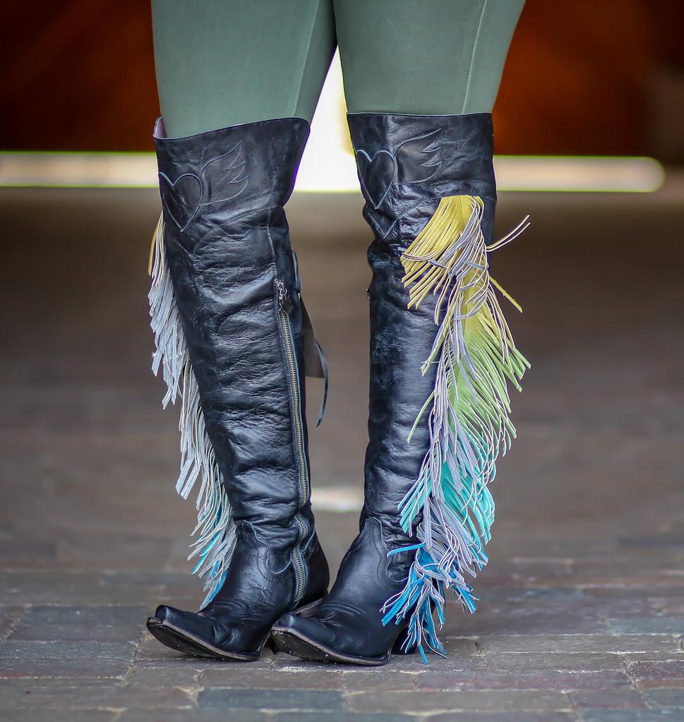Junk Gypsy by Lane Spirit Animal Black Boots JG0022B Fringe